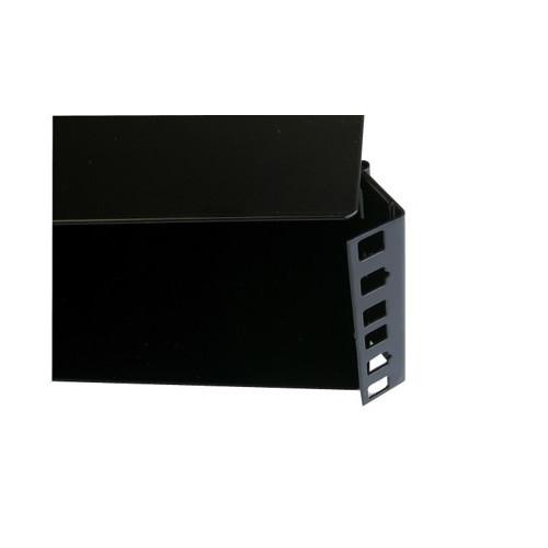 2U Hinged Wall Mount Removable Lid Panel Enclosure 220mm Deep - Black (Each)