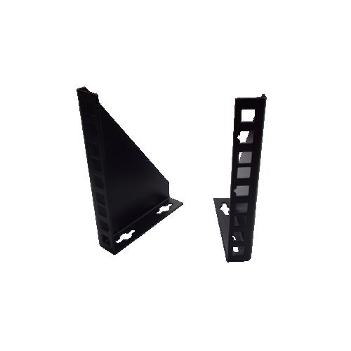 2U 10/19 inch Multipurpose Wall or Desk Vertical Horizontal Bracket- Pair - Black (Per pair)