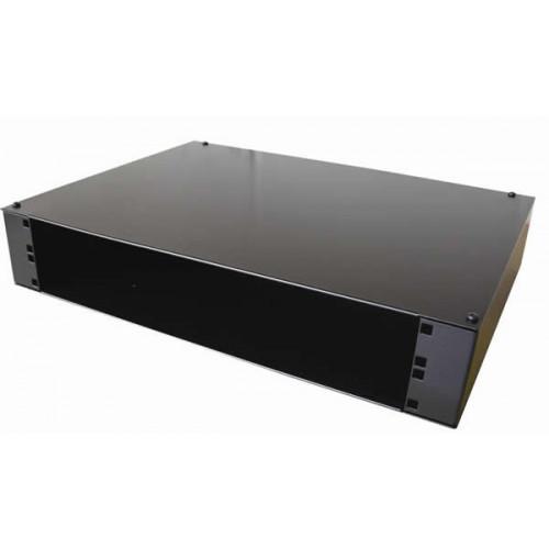 Algar 0 | 2U Wall Mount Removable Lid Panel Enclosure 400mm Deep - Black