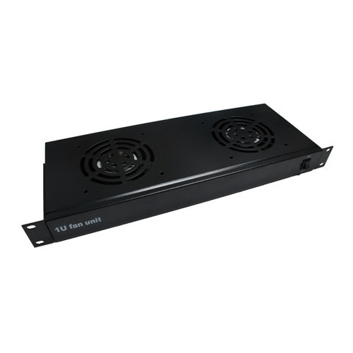 2 Way Rack Mount Fan Tray- Matrix-Black (Each)