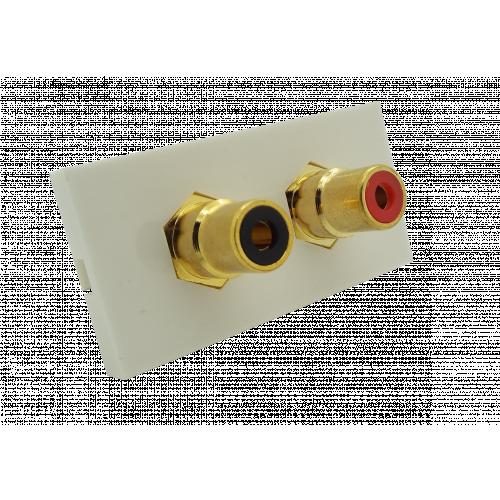 CMW Ltd  | Matrix EURO 50x25  2 x RCA Red and Black Module- White