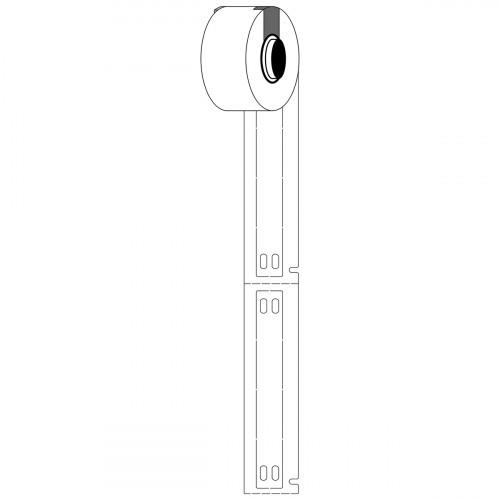 CMW Ltd  | Brady M61-10x75-7643-WT Linerless B-7643 cable tags for M611 & BMP61 - B-7643 - 10.00 mm x 75.00 mm - White