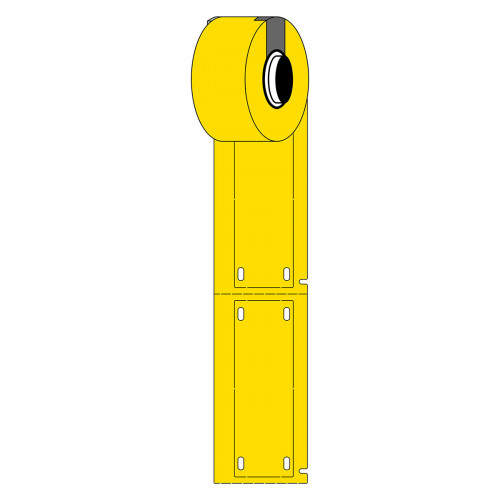CMW Ltd  | Brady M61-25x75-7643-YL Linerless B-7643 cable tags for M611 & BMP61 - B-7643 - 25.00 mm x 75.00 mm - Yellow