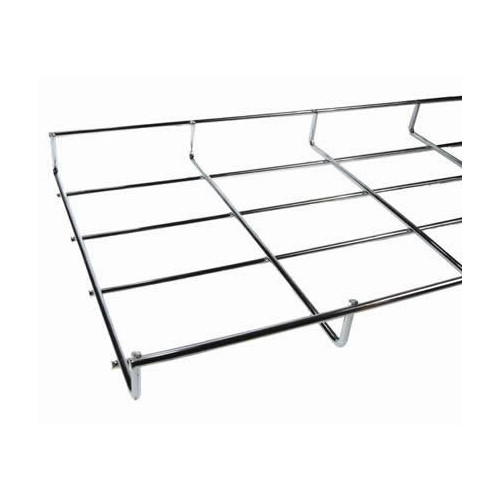 Under Desk Cable Basket Tray  1.4m 150mm Wide x 30mm Deep BZP Finish (1.4m lgth)