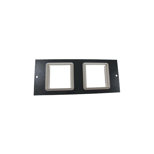 TASS ST0304 | 3 Compartment Floor Box Euro Plate 4 x EURO  2 x 50mm Hole Light Grey 185mm x 76mm
