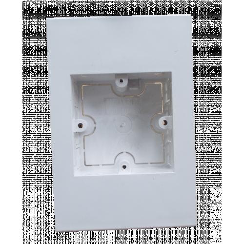 Dietzel Univolt Single Gang PVC for 150 x 150mm Maxi Trunking White Accessory Box 28mm depth (Each)