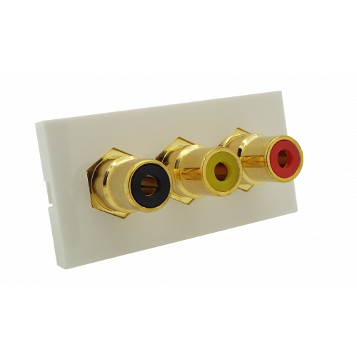 Matrix EURO 50x25  3 x RCA Red - Yellow and Black Module- White (Each)
