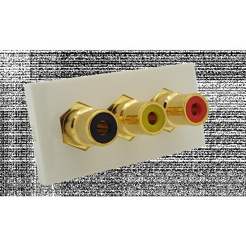 CMW Ltd  | Matrix EURO 50x25  3 x RCA Red - Yellow and Black Module- White