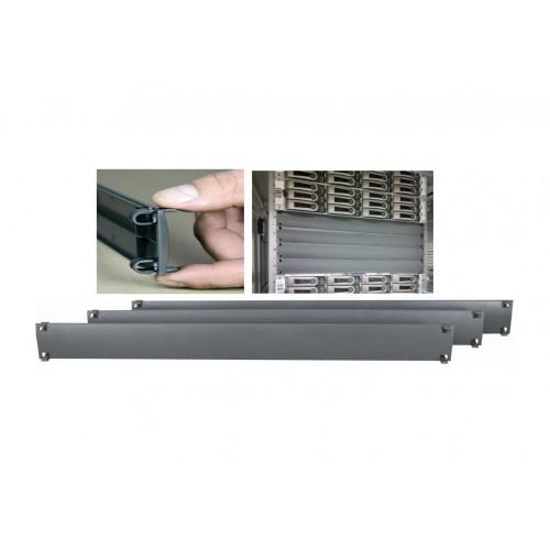 1U Quickfit Blanking Panel UL-94-VO Plastic Anthracite Grey (Each)