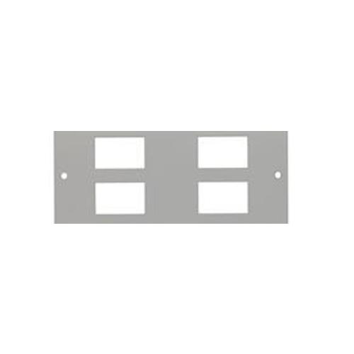 TASS ST0284 | Single & Three Compartment 4 way LJ6C Data Plate Light Grey 185 x 89mm