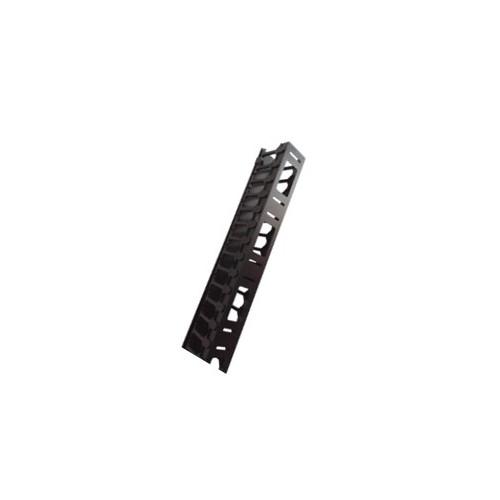 47U Vertical Side Cable Management Trough Black-Matrix (Each)