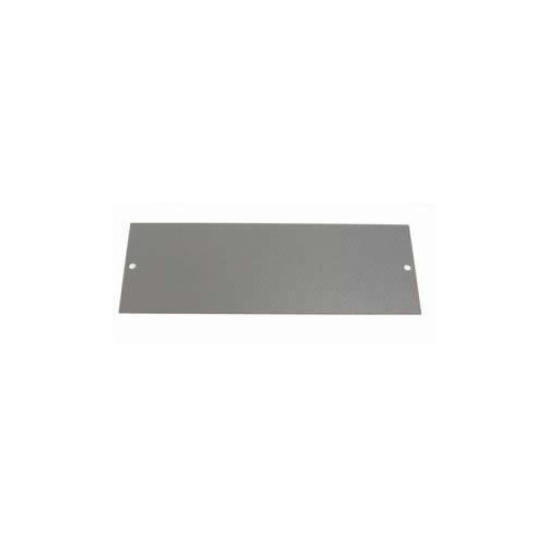 TASS ST0282 | 4 Compartment Blank Data Plate Galvanised Steel 185mm x 67mm