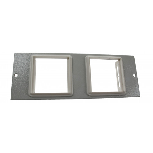 TASS ST0279 | 4 Compartment Euromod Plate 50mm x 50mm Light Grey 185mm x 67mm