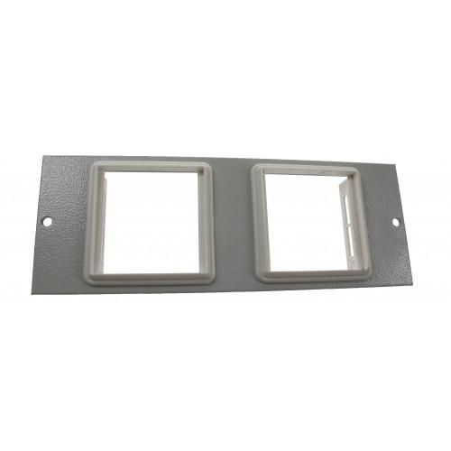 TASS ST0279 | 4 Compartment Euromod Plate 50mm x 50mm Light Grey 185mm x 67mm