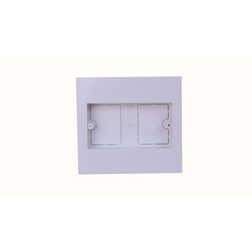 CMW Ltd  | Dietzel Univolt Double Gang PVC for 150 x 150mm Maxi Trunking White Accessory Box 28mm depth