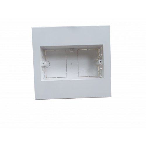 Dietzel Univolt Double Gang PVC for 150 x 150mm Maxi Trunking White Accessory Box 28mm depth (Each)