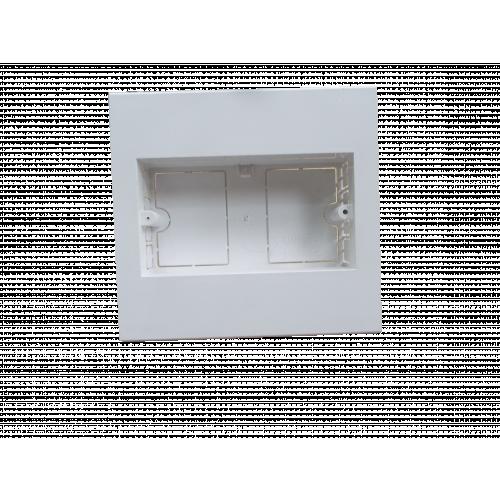 Dietzel Univolt Double Gang PVC for 150 x 150mm Maxi Trunking White Accessory Box 28mm depth (Each)