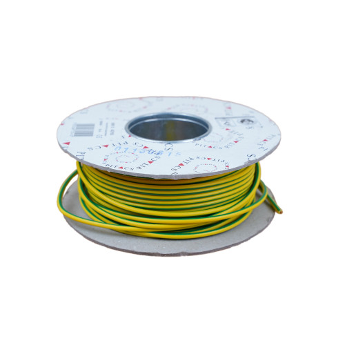 6491X  4mm Green / Yellow Single Core Earth Cable PVC 50m Reel (50m Reel)