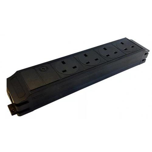 CMW Ltd  | CR Power Feed Unit 4-Way UK with Master 13A Fuse- Black