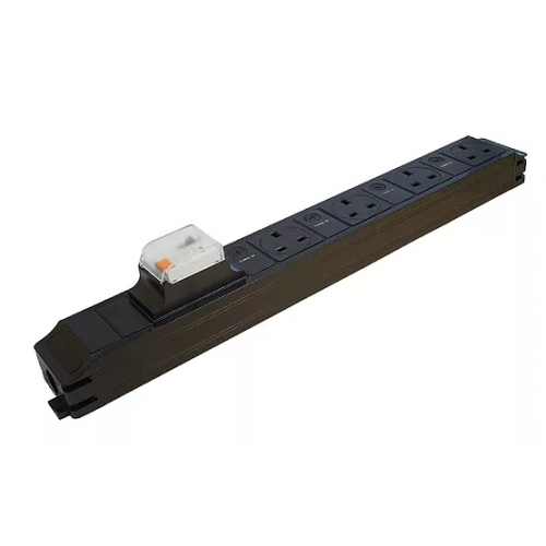 CMW Ltd  | CR Power Feed Unit 4-Way UK Individually Fused with 16A RCBO - Black