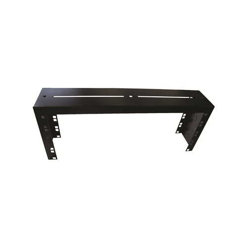 4U Basket Tray Mounted 19 Inch Patch Panel Frame - Black (Each)