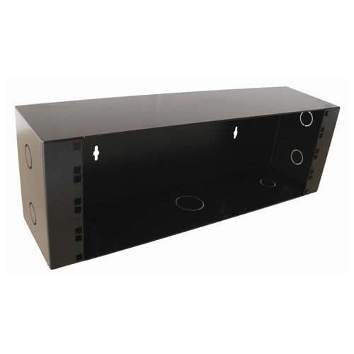 4U Universal 19 inch Patching Enclosure 90mm Deep - Black (Each)