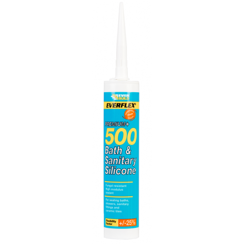 Everbuild Anti-Fungicidal Silicone 310ml - White (Each)