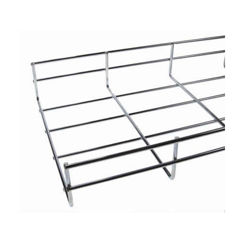 CMW Ltd    Under Desk Cable Basket Tray  1.2m 100mm Wide x 55mm Deep BZP Finish (1.2m lgth)