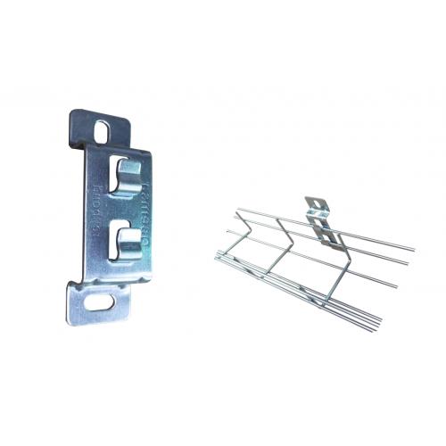 Pemsa Rejiband Electrogalvanised Wire Basket Tray Silver Side Support Bracket (Each)