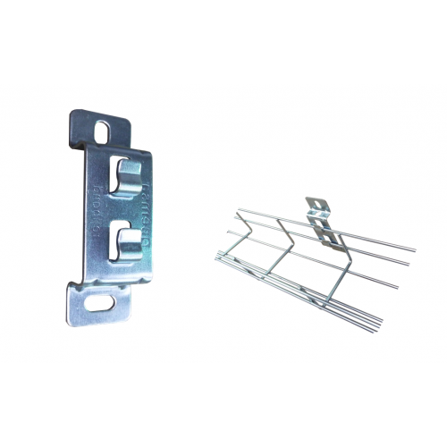 Pemsa 62011060 | Pemsa Rejiband Electrogalvanised Wire Basket Tray Silver Side Support Bracket
