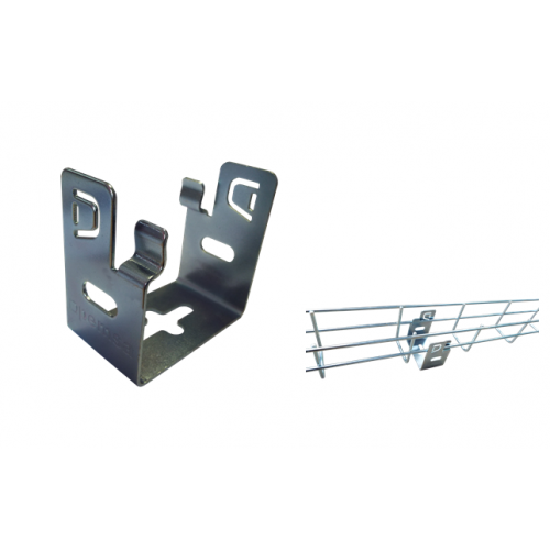 Pemsa 62016022 | Pemsa Rejiband Electrogalvanised Wire Basket Tray Silver 60mm Base Support