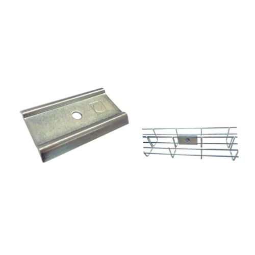 Pemsa Rejiband Electrogalvanised Wire Basket Tray Silver Side Joint Plate (Each)