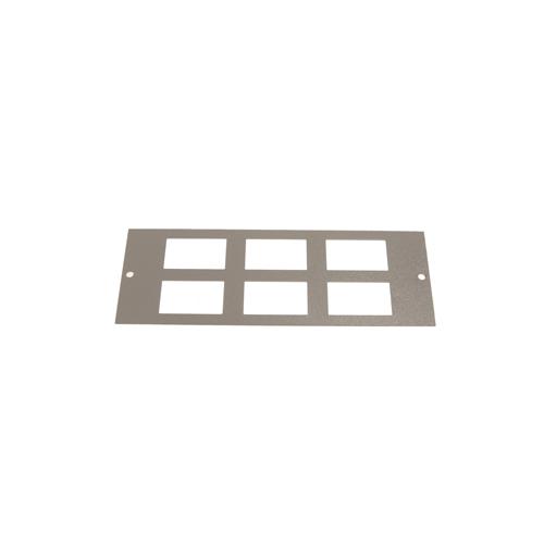 TASS ST0289 | Single & Three Compartment 6 way Data LJ6C Plate Light Grey 185 x189mm