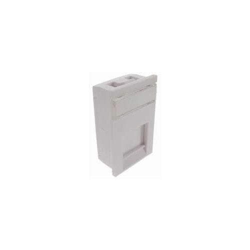 Matrix LJ6C Floorbox Keystone Adapter-flat - White (Each)