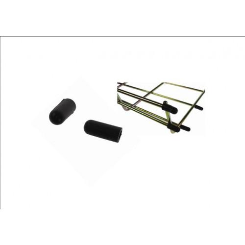 Pemsa 68000049 | Pemsa Rejiband Wire Basket Tray Black End Caps (Pack / 100)