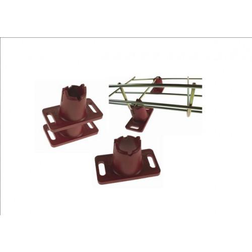 Pemsa 68000060 | Pemsa Rejiband Red Plastic Wire Basket Tray Floor Foot