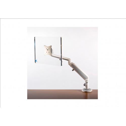 White Single Screen Air Monitor Arm (Each)