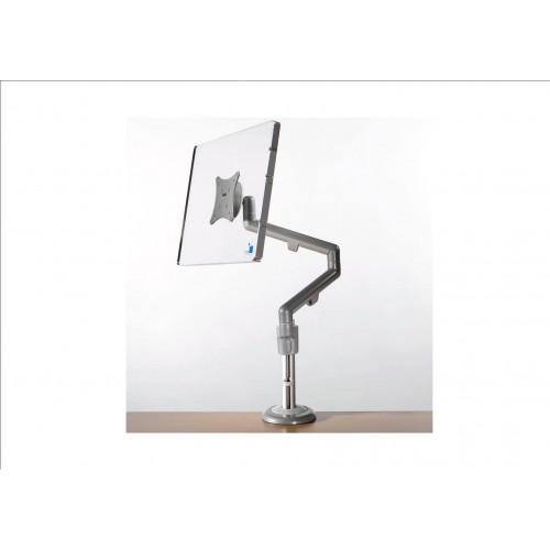 Silver Motion Single Flat Screen Monitor Arm (Each)