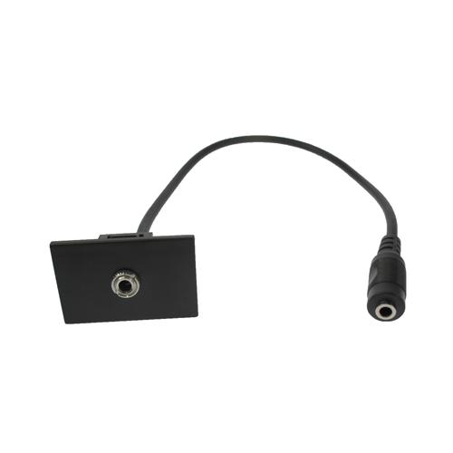 CMW Ltd    LJ6C Black 3.5mmAudio Assembly 300mm for Mini/Maxi  Range Desk Power Units