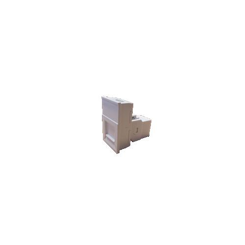 LJ6C White Cat6 Coupler Module for Mini/Maxi  Range Desk Power Units (Each)