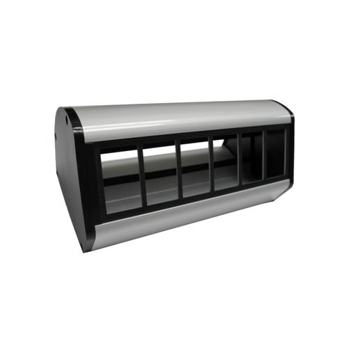 CMW Ltd Desk Cable Management   CR Desktop Unit  6 x LJ6C Unloaded Black/Silver
