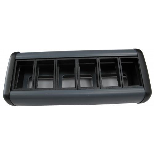 CMW Ltd Desk Cable Management   Desktop Unit- 6 x LJ6C Data Black/Grey