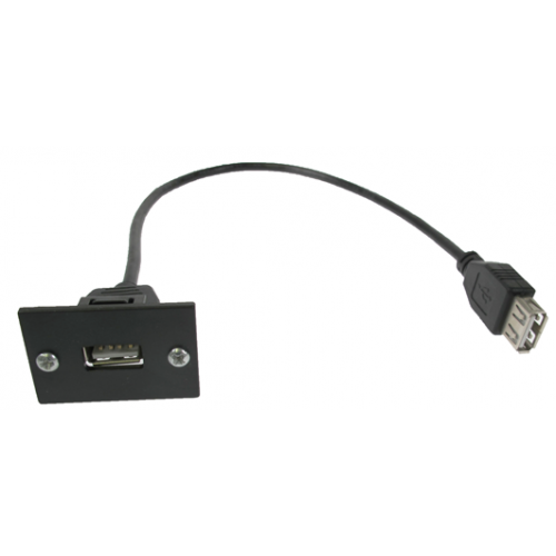 LJ6C Black USB2.0 Assembly 300mm for Mini/Maxi  Range Desk Power Units (Each)