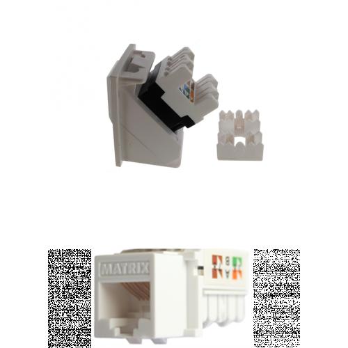 CMW Ltd  | Matrix White Cat6 RJ45 U/UTP LSA Keystone Module White