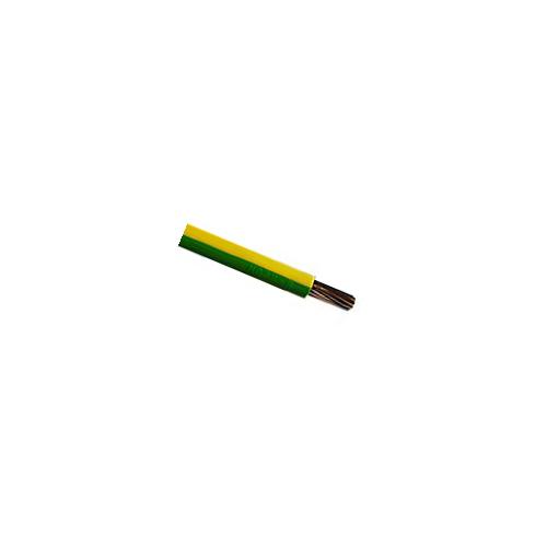 CMW Ltd  | 6491X  6mm Green / Yellow Single Core Earth Cable PVC 100m Reel (100m Reel)