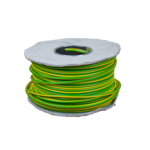 6491X  6mm Green / Yellow Single Core Earth Cable PVC 100m Reel (100m Reel)