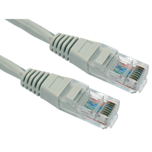 CMW Ltd, Structured Cabling Copper Patchcord   1m Cat6 RJ45 U/UTP Moulded Patch Lead Grey