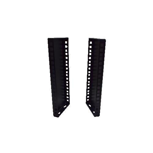 6U 10/19 inch Multipurpose Wall or Desk Vertical Horizontal Bracket- Pair - Black (Per pair)