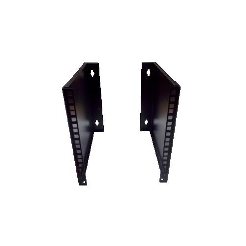 6U 10/19 inch Multipurpose Wall or Desk Vertical Horizontal Bracket 400mm D- Pair - Black (Per pair)