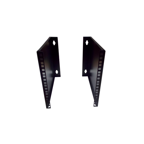 algar 0 | 6U 10/19 inch Multipurpose Wall or Desk Vertical Horizontal Bracket 400mm D- Pair - Black (Per pair)